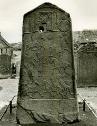 Click to a larger version of Aberlemno Pictish Cross-slab, Angus (Historic Scotland): © Mick Sharp