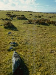 Click to a larger version of East Moor Field System, Cornwall: photo © Mick Sharp
