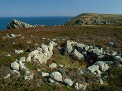 Click to a larger version of North End Hut Circle, Lundy Island (National Trust/Landmark Trust): photo © Mick Sharp