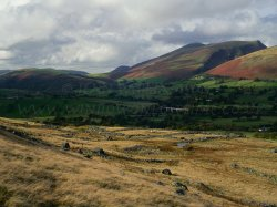 Click to a larger version of Threlkeld Knotts Iron Age Settlement, Cumbria: photo © Jean Williamso