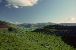 Click to a larger version of Cademuir Hillfort, Borders: photo © Mick Sharp