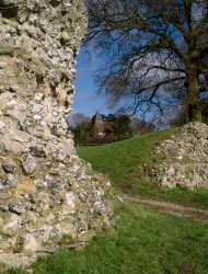 Click to a larger version of Silchester Roman Town, Hampshire (English Heritage): photo © Mick Sharp