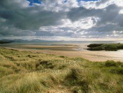 Click to a larger version of Aberffraw Dunes and Trwyn Du Mesolithic hunting camp site. © Mick Sharp