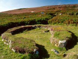 Click to a larger version of Ty Mawr settlement, one of 'the huts of the Irishmen'. © Mick Sharp