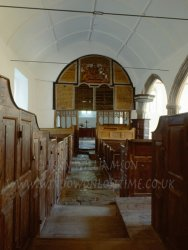 Click to a larger version of Parracombe Churchtown, Devon (Churches Conservation Trust): photo © Jean Williamson