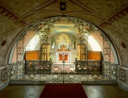 Click to a larger version of Italian Chapel, Lamb Holm, Orkney (Chapel Preservation Committee): photo © Jean Williamson