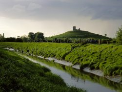 Click to a larger version of Burrow Mump, Somerset (National Trust): photo © Jean Williamson