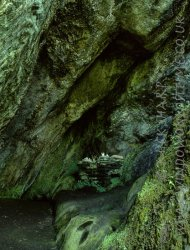 Click to a larger version of St Columba's Cave, Mid Argyll: photo © Mick Sharp