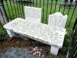 Click to a larger version of Wigtown Churchyard Covenanters' Graves, Dumfries & Galloway (Church of Scotland): photo © Jean Willi