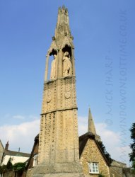 Click to a larger version of Eleanor Cross, Geddington, Northamptonshire: photo © Mick Sharp