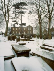 Click to a larger version of Haworth Churchyard and Parsonage, West Yorkshire (Church of England): photo © Mick Sharp