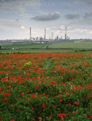 Click to a larger version of Pembroke Oil Refinery, Rhoscrowther, Pembrokeshire (Chevron): photo © Jean Williamson