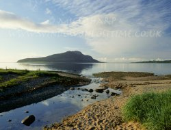 Click to a larger version of Holy Island, Lamlash Bay, Arran, North Ayrshire (Rokpa Trust): photo © Mick Sharp