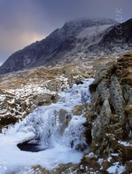 Click to a larger version of Nant Bochlwyd and Tryfan, Gwynedd (National Trust): photo © Mick Sharp