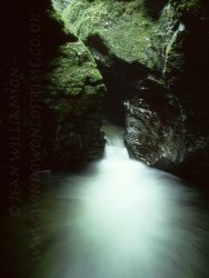 Click to a larger version of Devil's Cauldron, Lydford Gorge, Devon (National Trust): photo © Jean Williamson