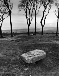 Click to a larger version of Minninglow Hill burial chambers, Peak District, Derbyshire: photo © Mick Sharp