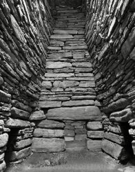 Click to a larger version of Quoyness chambered cairn, Sanday, Orkney: photo  © Mick Sharp