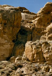 Click to a larger version of Casa Rinconada Stairway, Chaco Canyon, New Mexico, USA. Photo © Mick Sharp